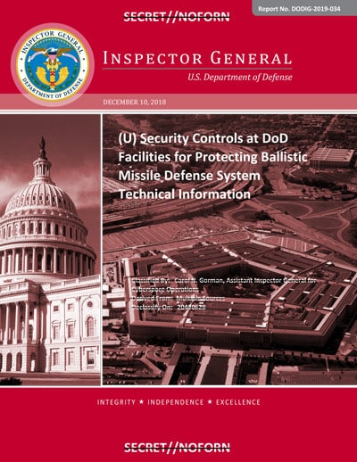 Download the U.S. Ballistic Missile Defense System Security Audit